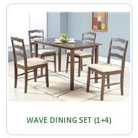 WAVE DINING SET (1+4)